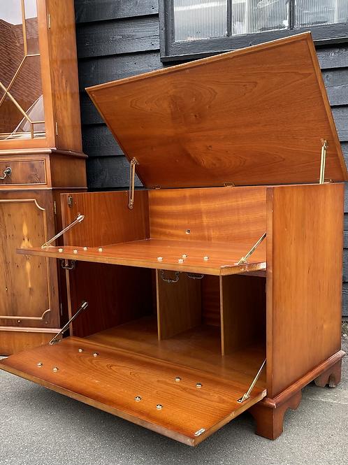 Yew Wood HiFi Music Cabinet / Chest