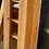 Thumbnail: Narrow Pine Glass Fronted Bookcase Display Cabinet