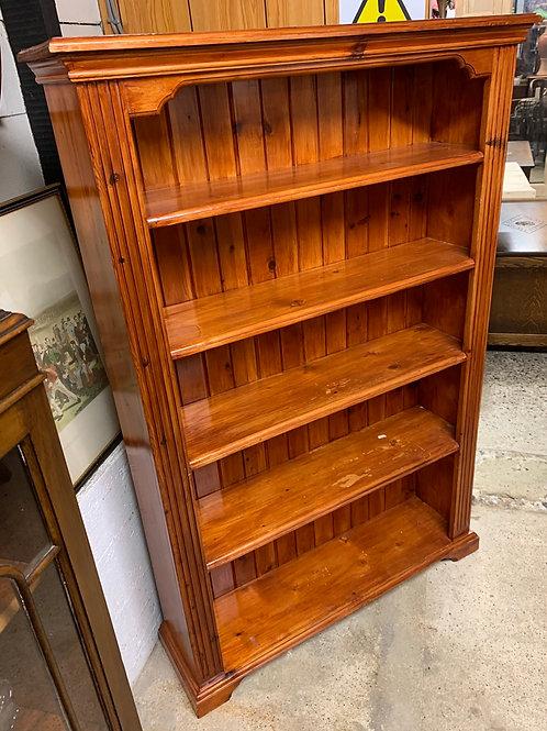 Traditional Modern Pine Dark Varnished Bookcase