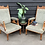 Thumbnail: Pair Of Edwardian Oak Frame Parlour Armchairs