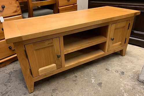 Contemporary Light Oak TV Cabinet / Stand