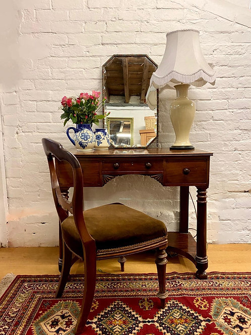 Small Victorian Mahogany Ladies Writing Desk / Side Table