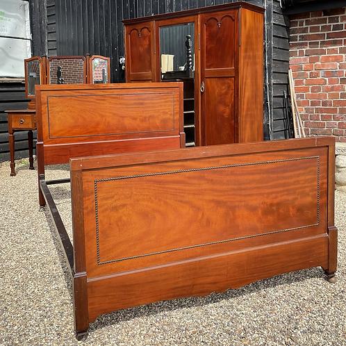 Early 20th Century Mahogany Double Bed Frame
