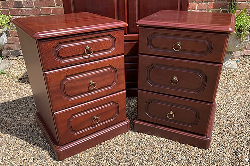 Pair Of Large Modern Bedside Cabinets