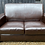 Thumbnail: Small Contemporary Chocolate Brown Faux Leather 2 Seater Sofa Settee