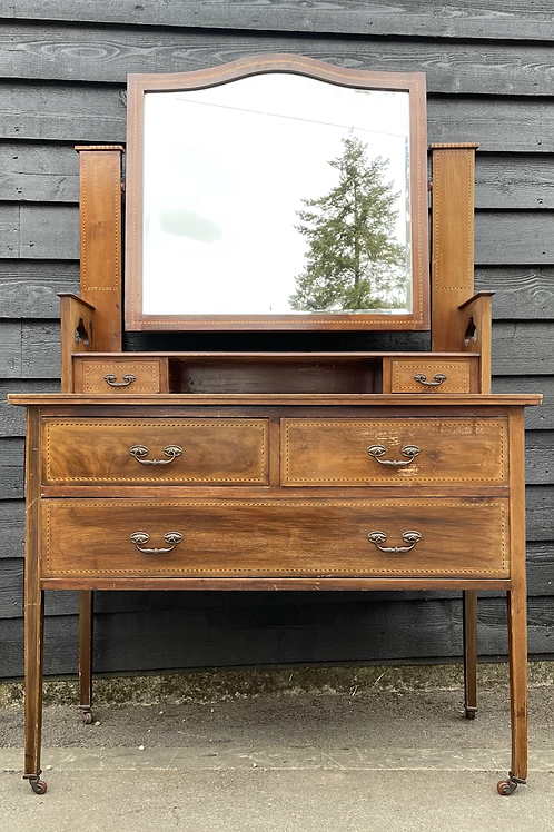 Traditional Edwardian Inlaid Dressing Chest
