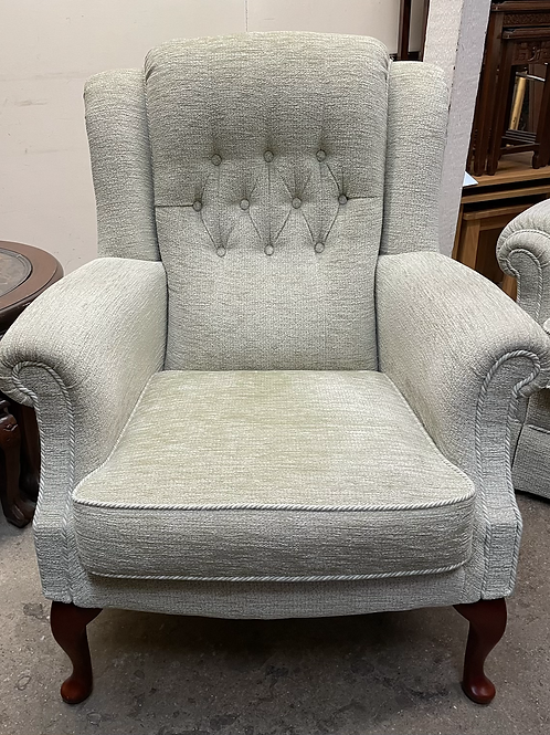 Very Comfortable Vale Wingback Armchair With Button Back Detail
