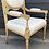 Thumbnail: Elegant French Style Armchair Gilt Finished Frame & Striped Upholstery