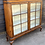 Thumbnail: Traditional Early 20th Century Walnut Veneer Glass Fonted Chine Display Cabinet