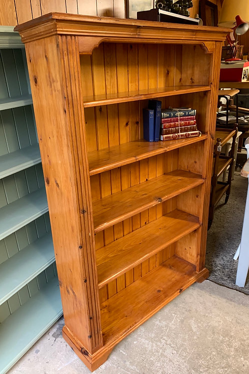 Traditional Modern Pine Varnished Bookcase