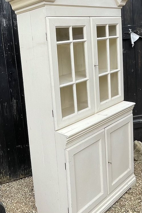 Pretty Vintage Painted Glazed Display Dresser / Cabinet