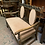 Thumbnail: 1920's Oak Carved Frame Carolean Style Suite With Settee & Armchairs