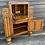 Thumbnail: Sweet Small Vintage Oak & Veneer Bureau Bookcase With Cupboard