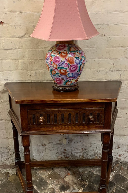 Bevan Funnell Reprodux Oak Credence Hall Table