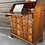 Thumbnail: Georgian Style Reproduction Slope Front Writing Bureau Desk With Drawers