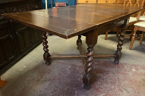 Vintage Oak Extending Draw Leaf Dining Table