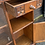 Thumbnail: Small Old Charm Glazed Bookcase Display Cabinet With Linenfold Detail