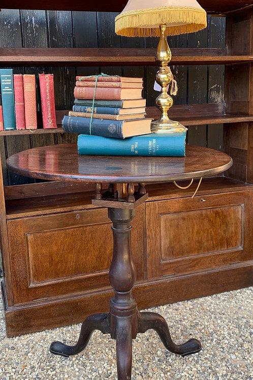 Traditional Mahogany Tilt Top Side Table