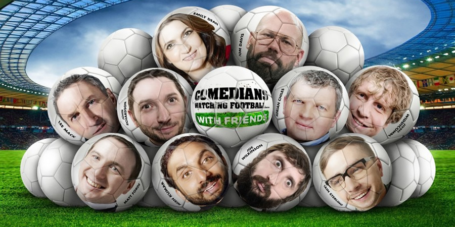 Comedians Watching Football