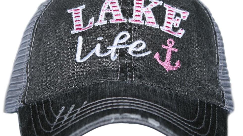 Lake Life Trucker Hat Light Pink