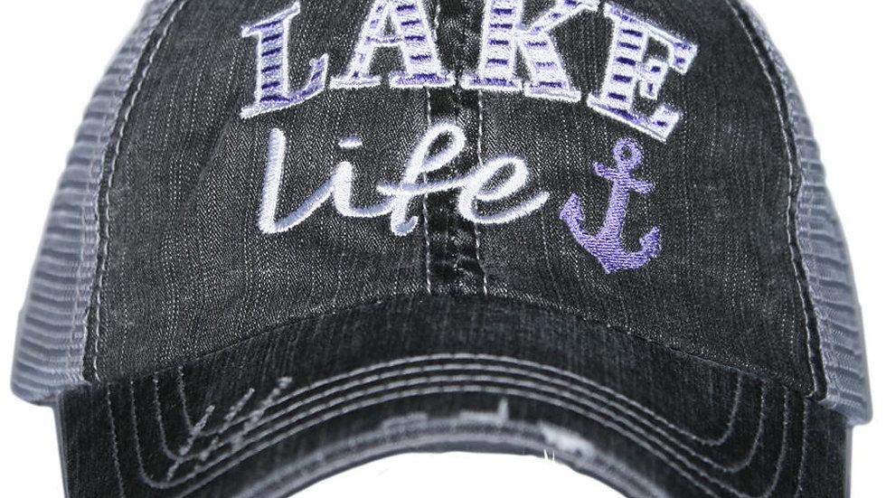 Lake Life Trucker Hat Purple