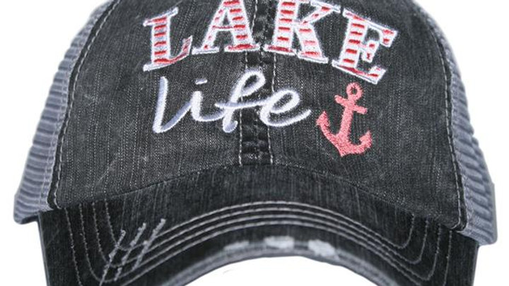 Lake Life Trucker Hat Coral