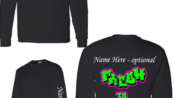 Dance Team Black Long Sleeve Tshirts
