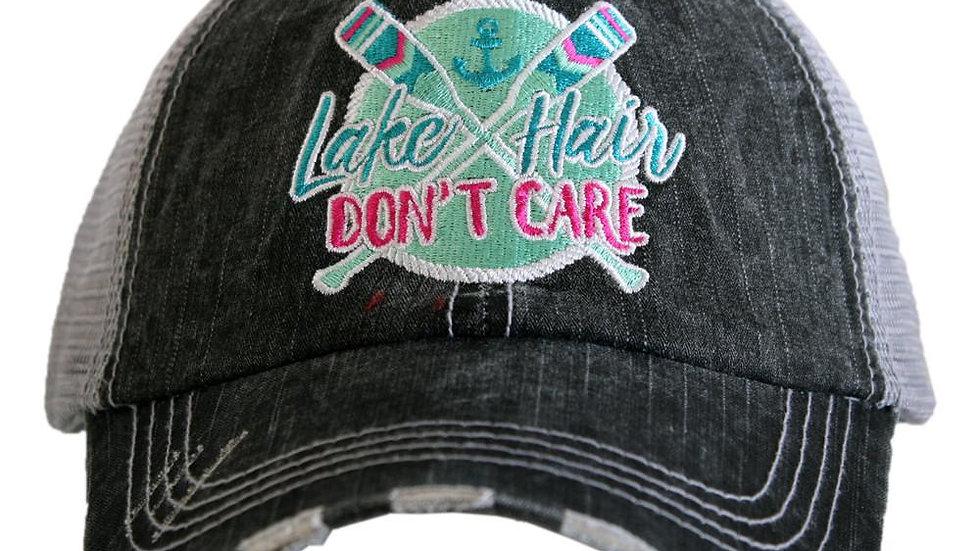Lake Life Don't Care Trucker Cap