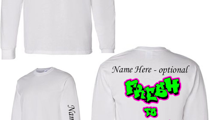 Dance Team White Long Sleeve Tshirts