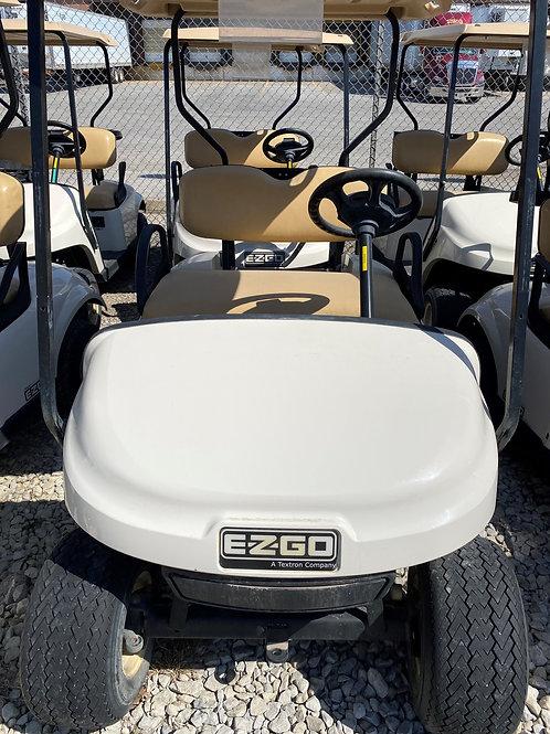 Gas White EZGO Golf Cart