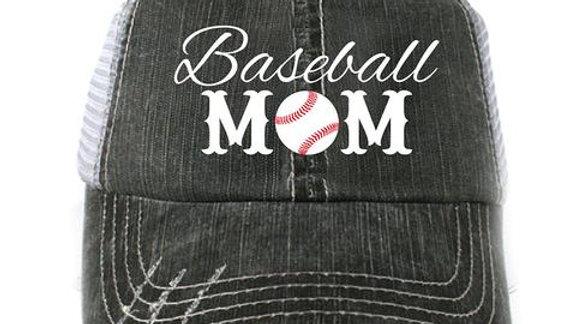 Large Baseball Mom Forever Trucker Hat