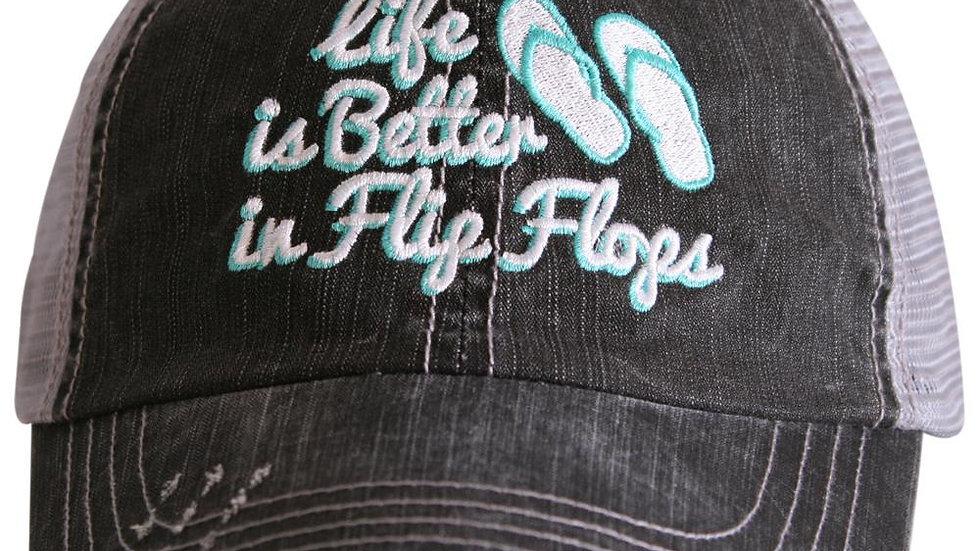 Life is Better in Flip Flops Trucker hat