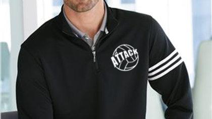 Attack Adidas Mens Quarter Zip 3 stripes