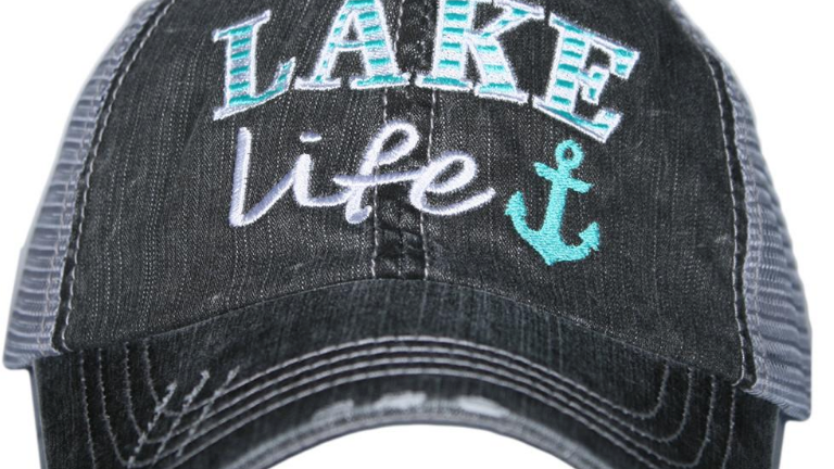 Lake Life Trucker Hat Turquoise