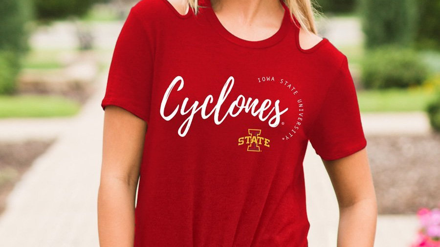 Cyclones Cold Shoulder Top