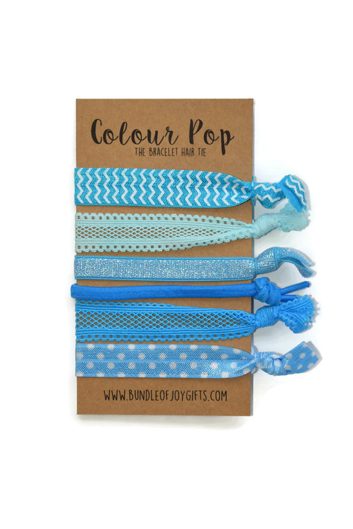 6 Fold over elastic hair ties Our ribbon hair ties are made of fold over  elastic 8a825a317fd