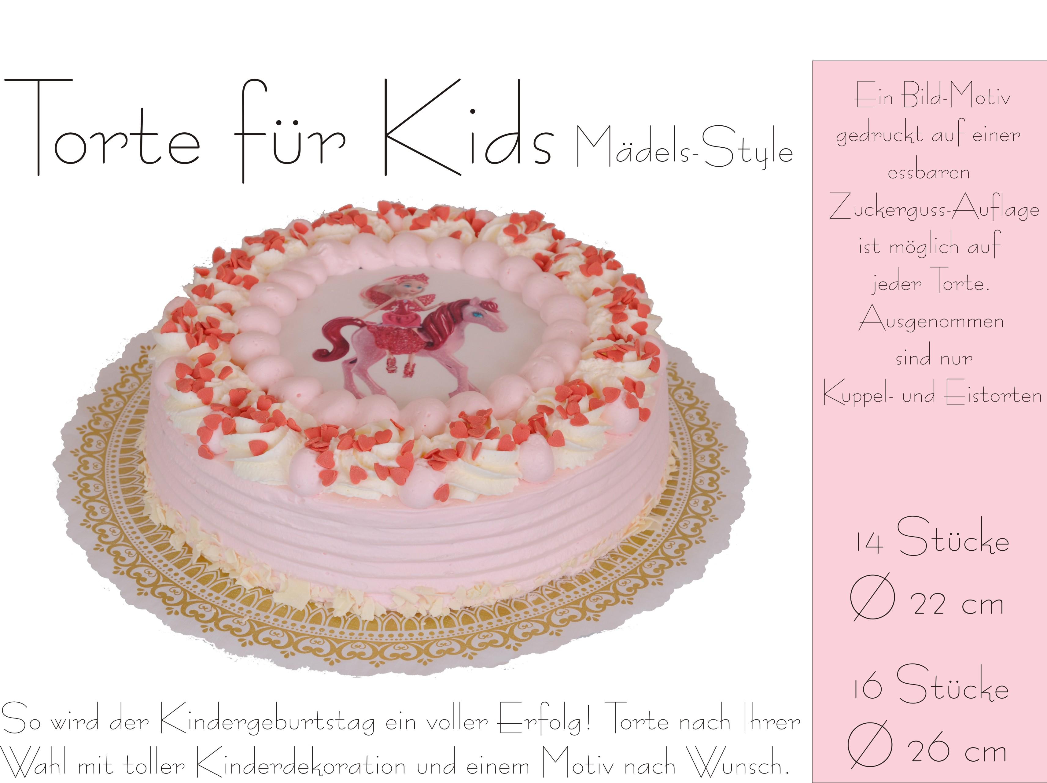 Torte für Kids Mädels-Style