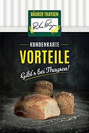 Kundenkarte Bäcker Thaysen