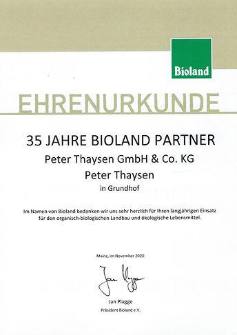 35 Jahre Bioland Bäcker Thaysen