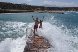 Cypern höga vågor