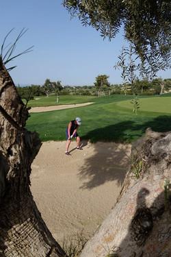 Golfskola bunkerslag