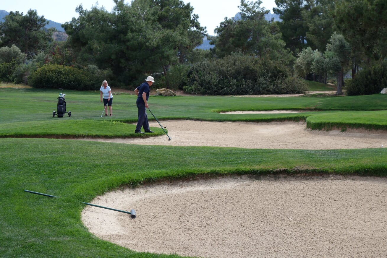 Golfskola bunkrar