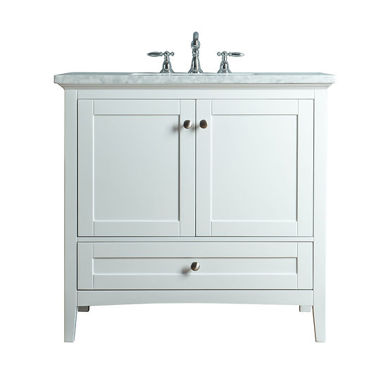 "Tower Modern 36"" White Single Sink Vanity"
