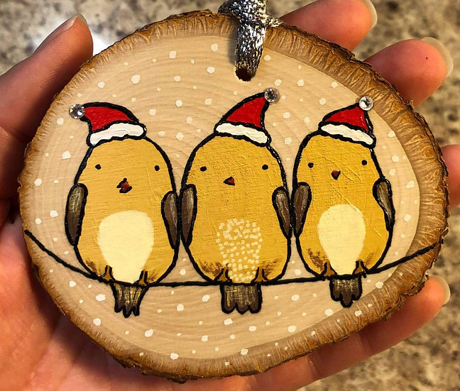 Winter Birds on a Wire