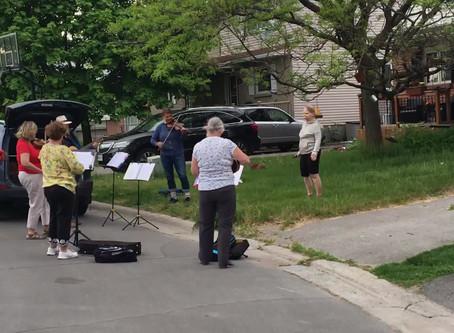 St. Luke's Fiddle Group Street Performance