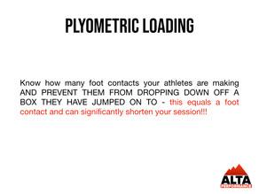 Plyometric loading