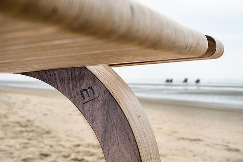 MAAKBURO b.nt tafel strand zee design stempel m