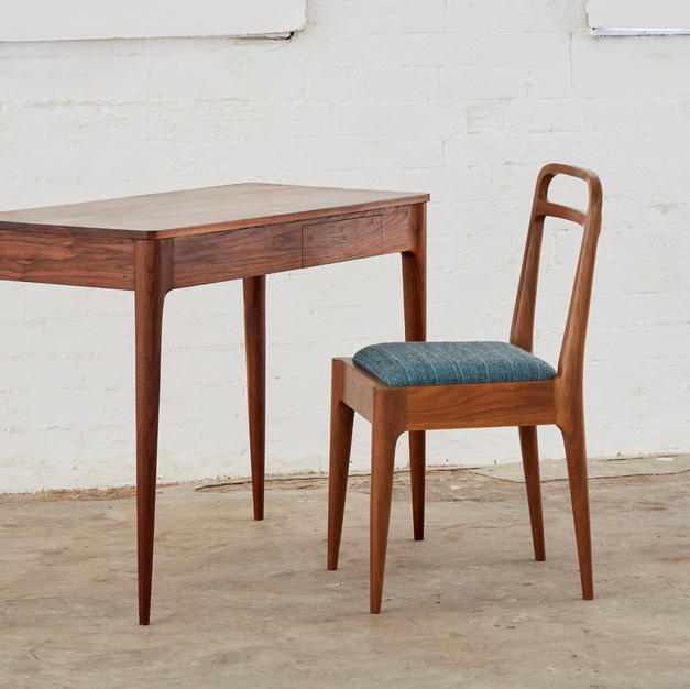 Loop dining chair and Pin desk