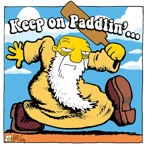 "Keep On Paddlin' 3.5"" Sticker (2 pk)"