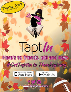 TaptIn Thanksgiving Flyer